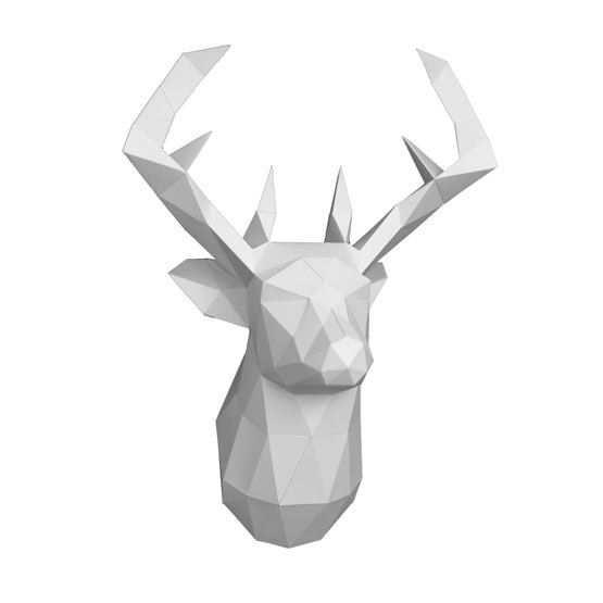 Papercraft Diy Kit Deer Head Cerf Origami Paper Deer Head 3d