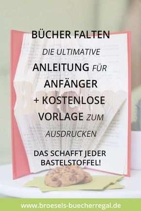 Einfach Bucher Falten Diy Anleitung Fur Anfanger Vorlage