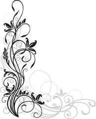 Vektor Blumen Ornament Floral Muster Ranke Blumen Zeichnen