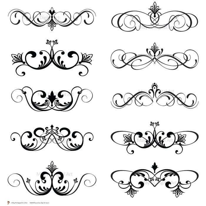 Word Clip Art Wedding Embellishments Digital Clip Art Clipart