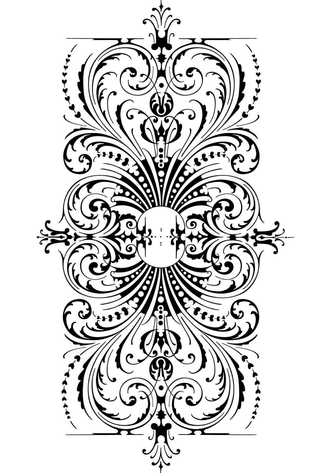 Free Calligraphic Ornaments Ornamente Vorlagen Vorlagen