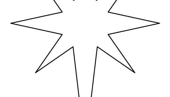 Printable Bethlehem Star Pattern Use The Pattern For Crafts