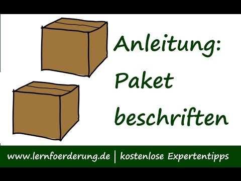 Paket Beschriften Packchen Beschriften Den Paketschein
