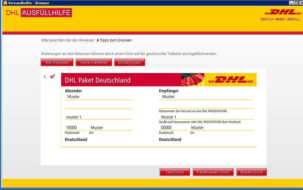 Paketaufkleber Erstellen Dhl 2020 03 24