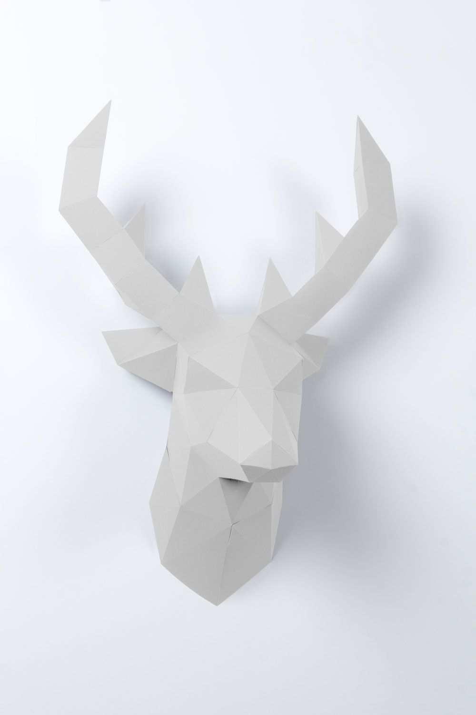 3d Papier Hirsch Basteln Mit Papier Origami Papier Tiere 3d
