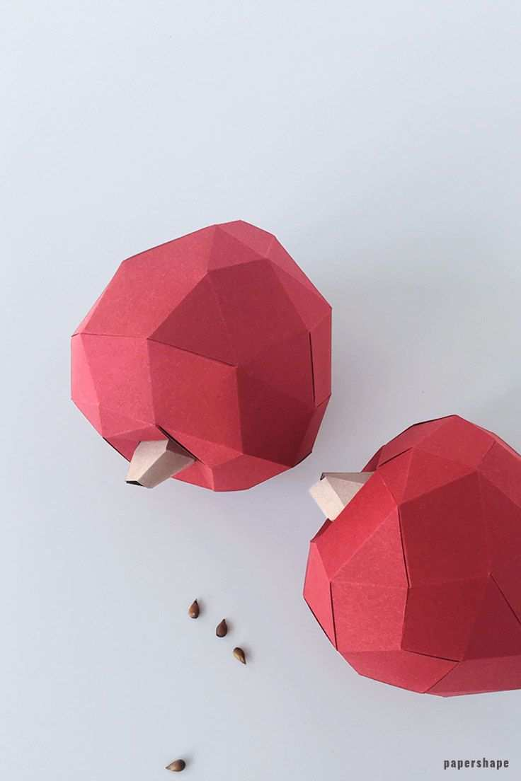 How To Make Acorns From Paper Free Template Apfel Basteln