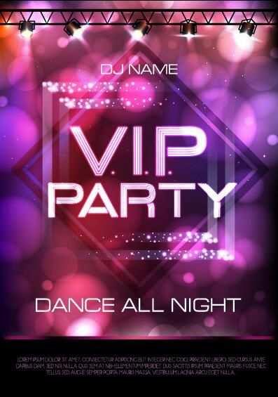 Vip Party Plakat Vorlage 02 Eps Datei Vip Party Plakat Vorlage
