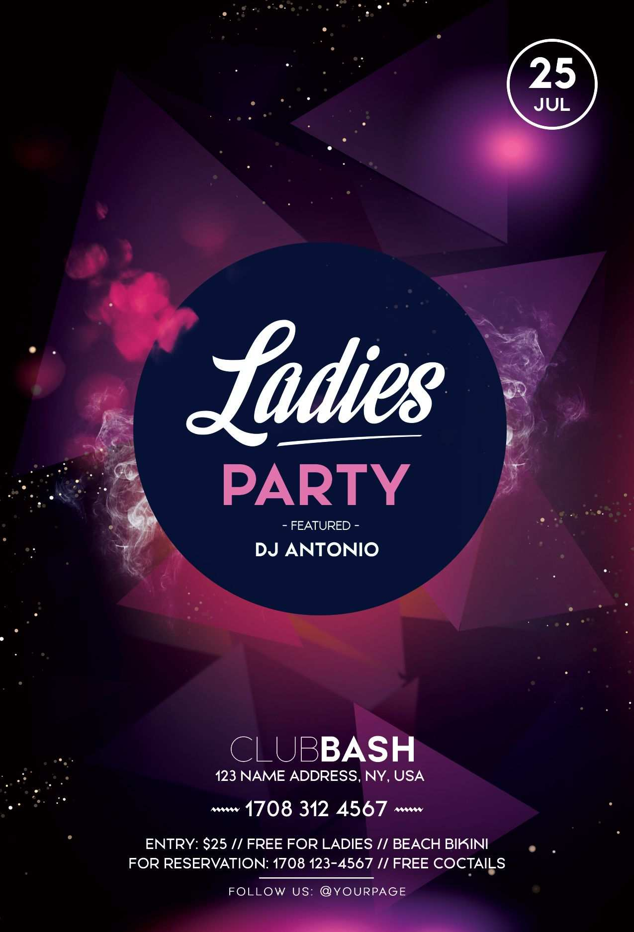 Ladies Party Psd Free Flyer Template Free Psd Flyer Templates
