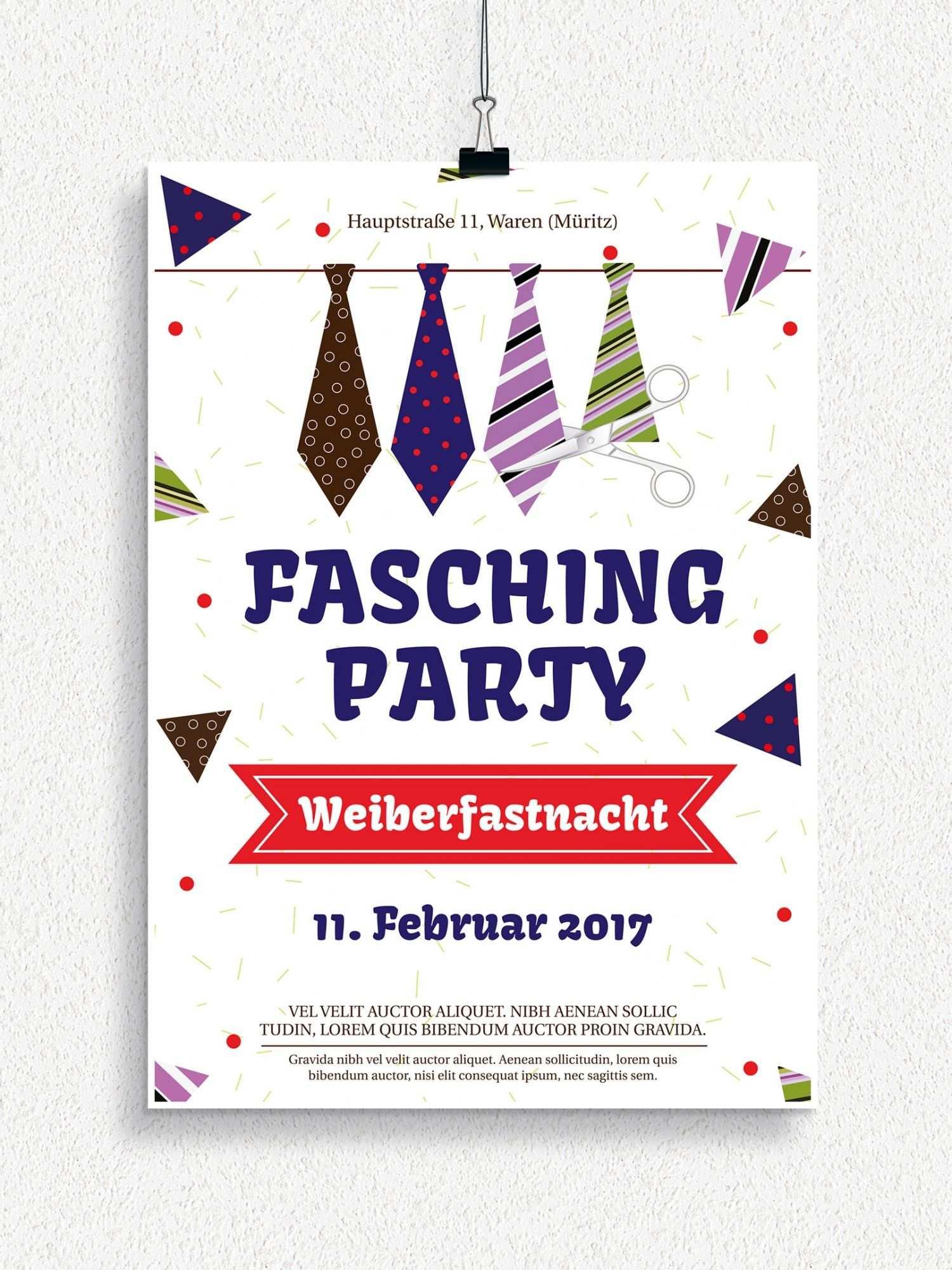 Plakat Und Flyervorlagen Fur Karneval Und Fasching Flyer