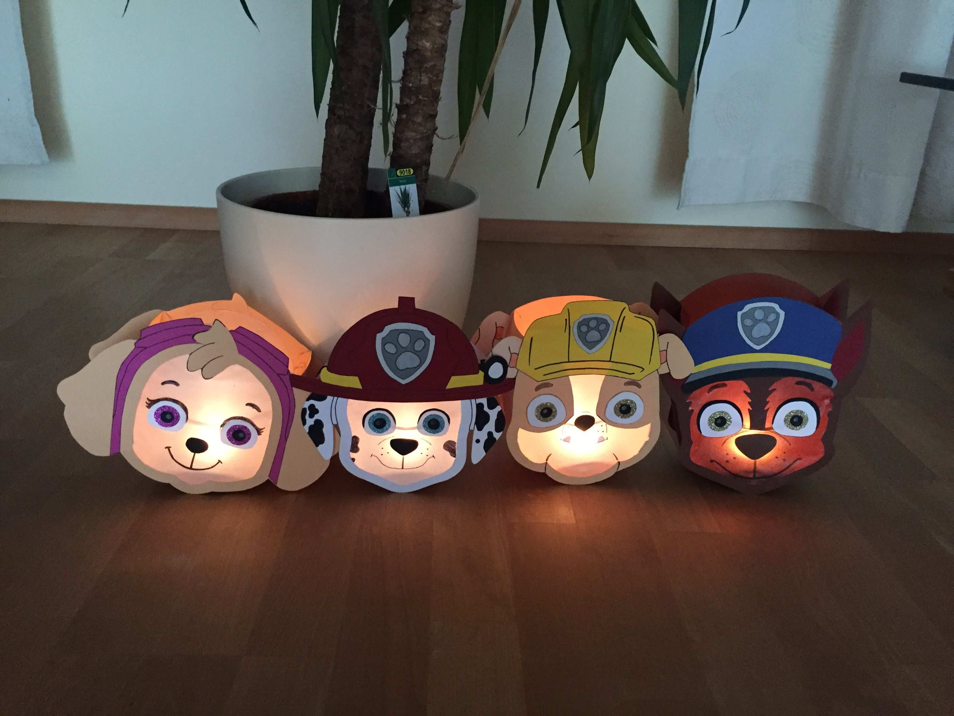 Paw Patrol Laterne Sky Marshall Rubble Chase Kinderleichte