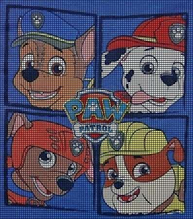 Paw Patrol Crochet Pattern Stickmotive Hakelanleitung Baby Motiv