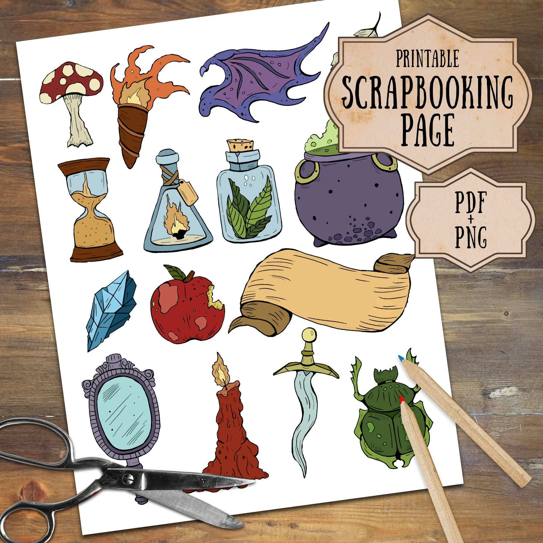 Alchemy And Witchcraft Scrapbooking Witch Clipart Download
