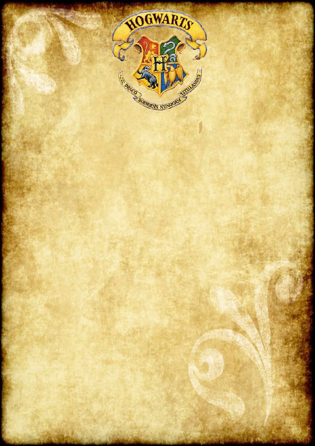 Free Printable Harry Potter Party Blank Parchment A4 Size