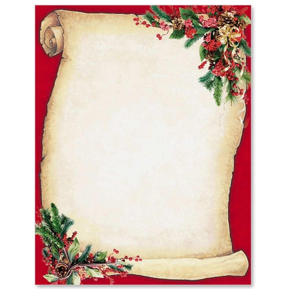 Christmas Scroll Letterhead Free Christmas Printables Free