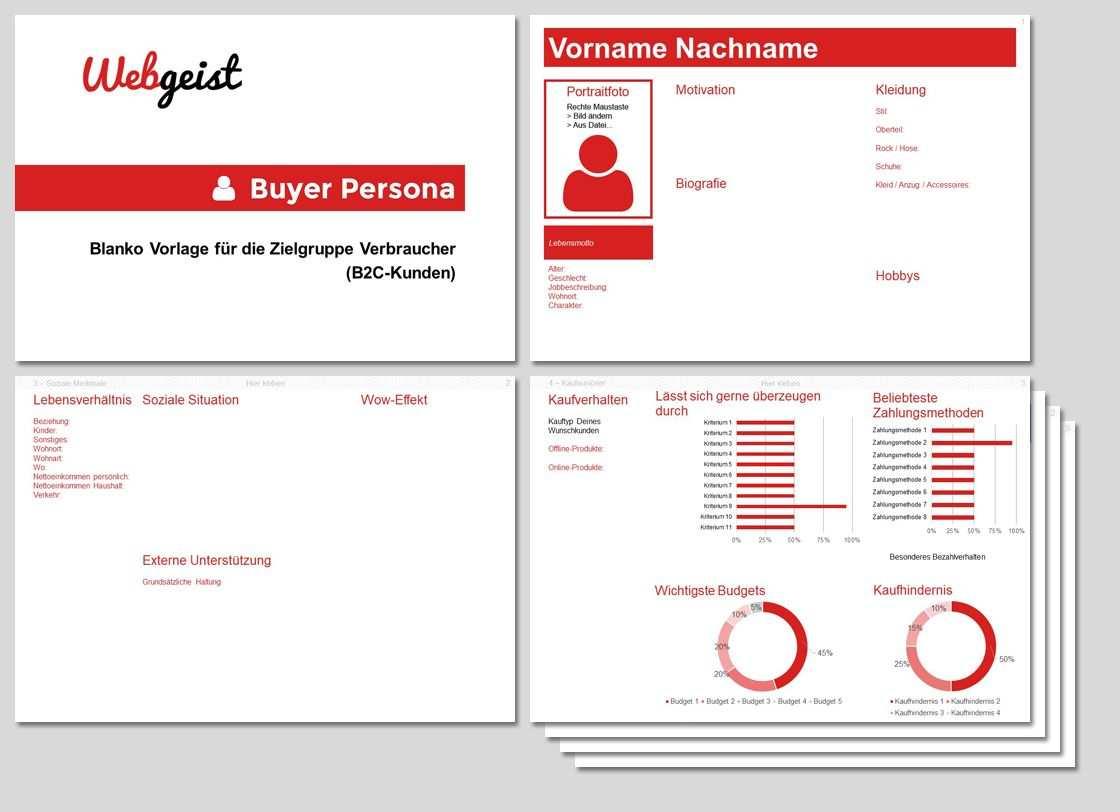 Kundenprofil Erstellen Powerpoint Vorlage Lernen Marketing