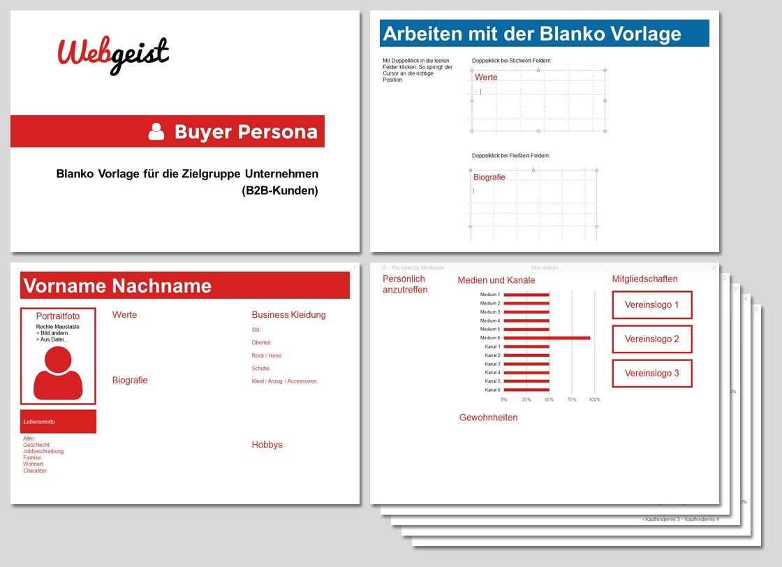 Kundenprofil Erstellen Powerpoint Vorlage Marketing Vorlagen