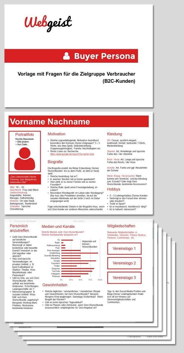 Kundenprofil Erstellen Powerpoint Vorlage Zielgruppe Vorlagen