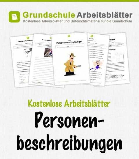 Kostenlose Arbeitsblatter Personenbeschreibungen Grundschule