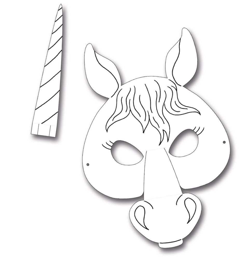 Kindermasken Pferd 6er Pack Mit Bildern Pferd Maske