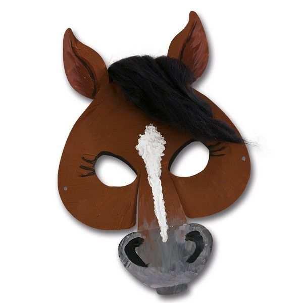 Kindermasken Pferd 6er Pack Tiermasken Basteln Pferde Kostume