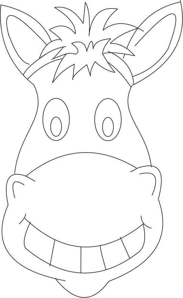 Mask Horse Mask Coloring Page Wild West Crafts Wild West