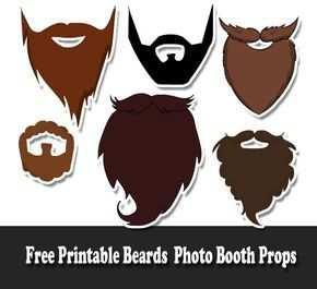 Free Printable Beards Photo Booth Props Diy Fotokabine