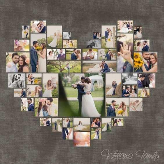 Foto Collage Vorlage Psd Herz Hochzeits Geschenk