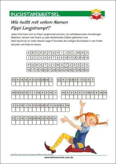 Wie Heisst Mit Vollem Namen Pippi Langstrumpf Buchstabenratsel