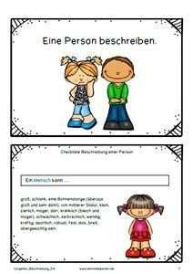 Schreiben Texte Aufsatze Personenbeschreibung Grundschule