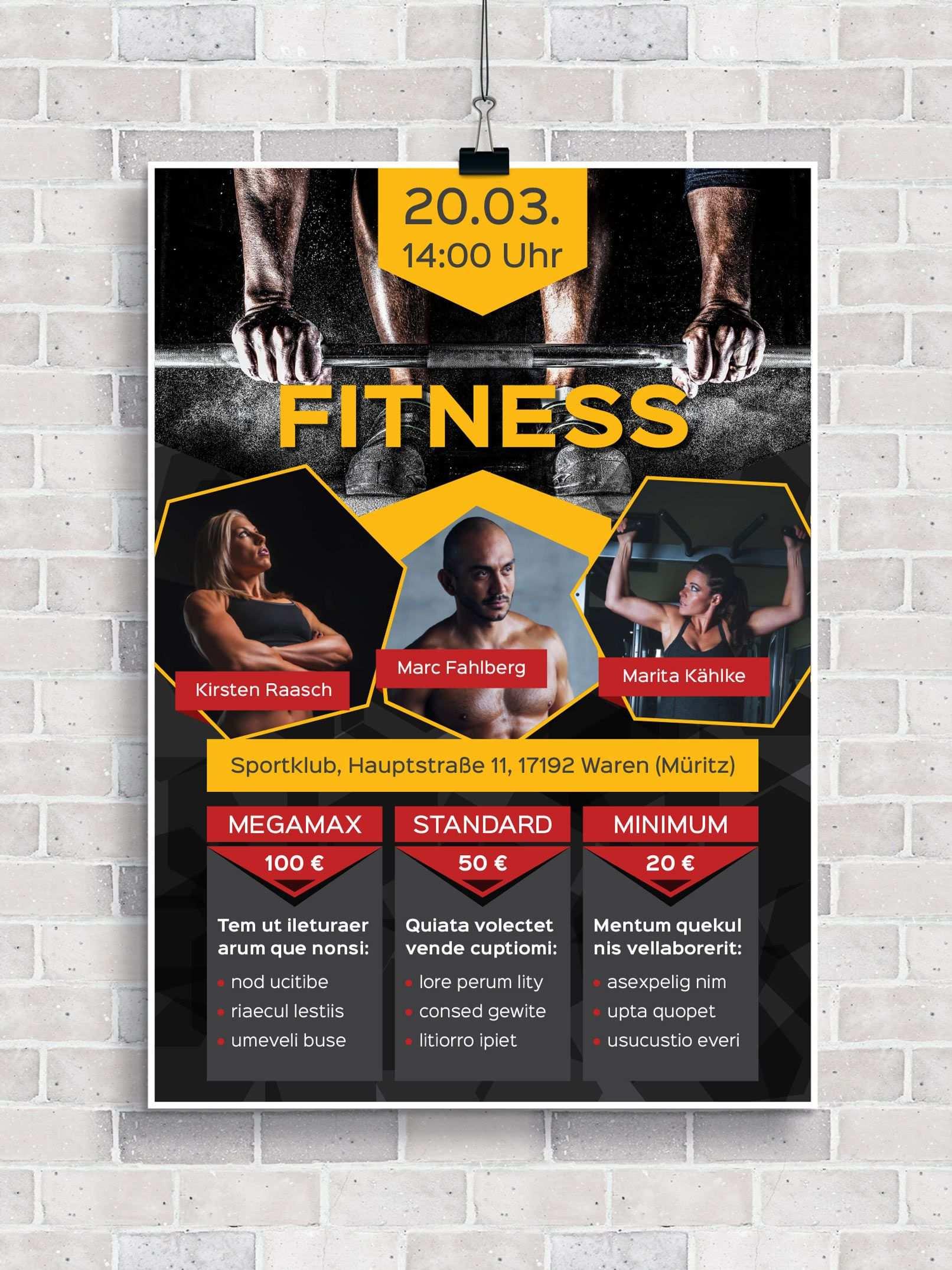 Flyer Vorlagen Fur Fitness Sport Und Fitnessstudios Zum Download