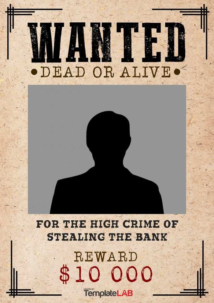 29 Free Wanted Poster Templates Fbi And Old West Word Template