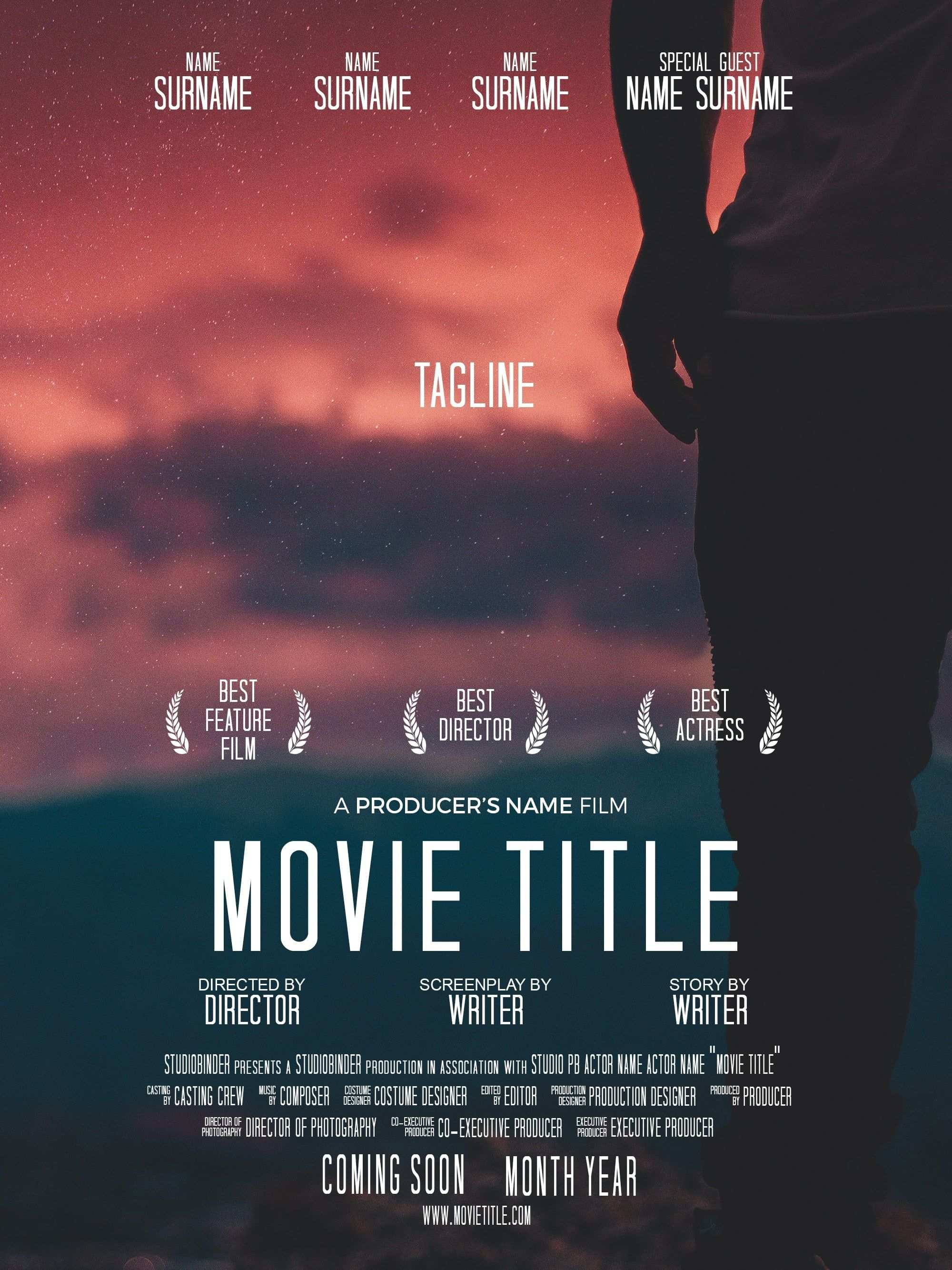 How To Make A Movie Poster Free Poster Template Indie Movie