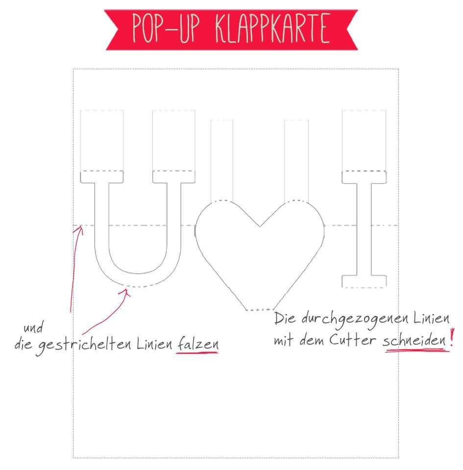 Tag Der Liebe Heute Echt Pop Up Karten Vorlagen