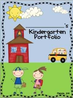 Free Kindergarten Portfolio Cover Google Search Portfolio