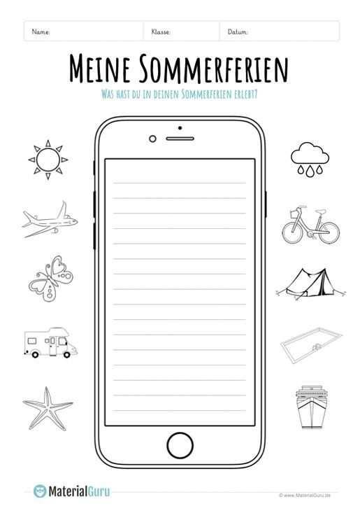 Sommerferien Ruckblick Auf Smartphone Auf Portfolio Ruckblick