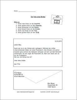 Arbeitsblatter Zum Thema Brief Materialwerkstatt Brief Schreiben Grundschule Vorlagen Lebenslauf Brief