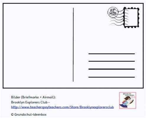 Klug Postkarte Schreiben Vorlage Postkarte Schreiben Vorlagen