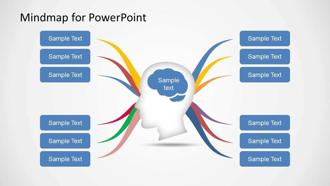Mind Map Diagram Template For Powerpoint Diagrams Powerpoint