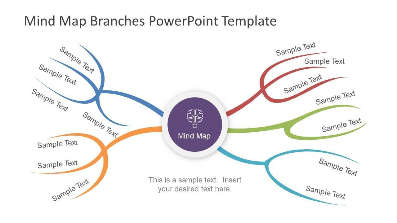 Mind Map Branches Powerpoint Template Powerpoint Templates