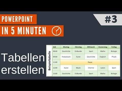 Powerpoint In 5min 3 Tabellen Erstellen Youtube Power Point