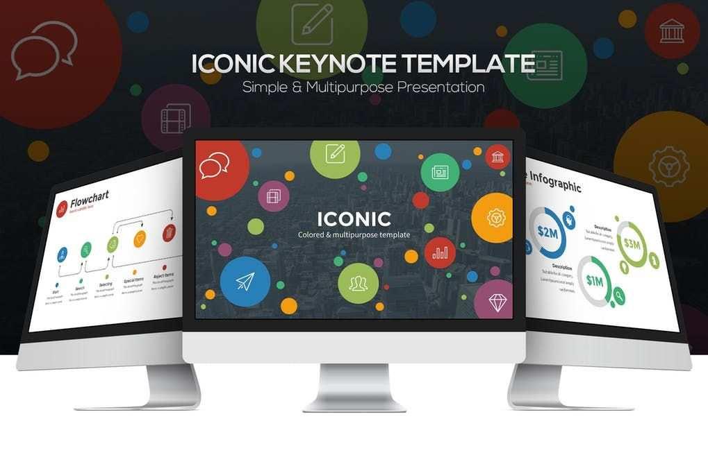 Iconic Keynote Template Find The Perfect Theme Photo Font