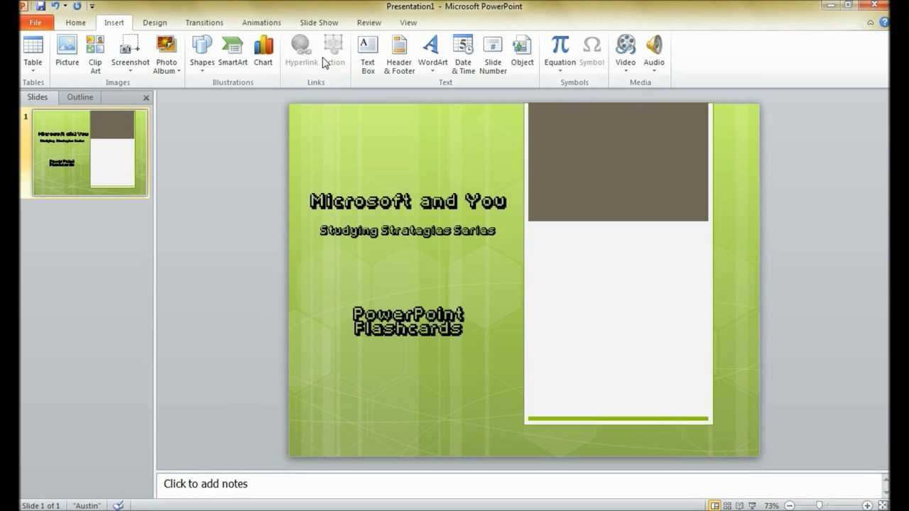 Powerpoint Flashcards Youtube