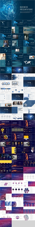 4 In 1 Business Presentations Template Powerpoint Vorlagen