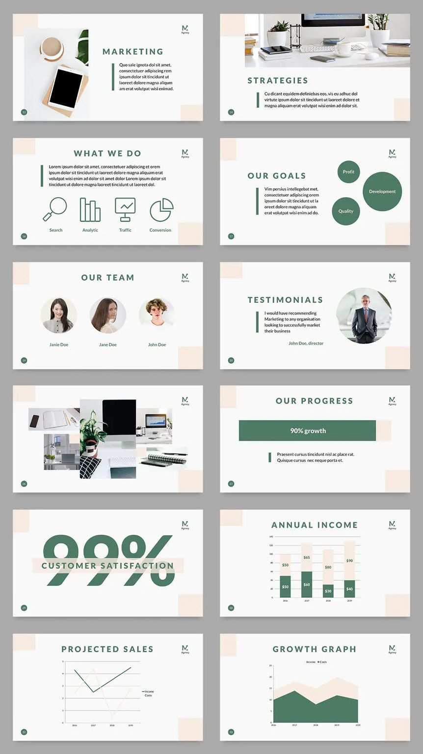 Digital Marketing Company Powerpoint Presentation Template 50