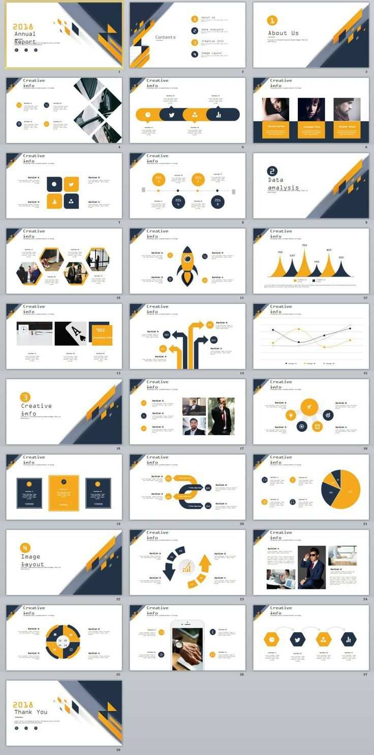 28 Best Creative Annual Analytics Charts Powerpoint Template