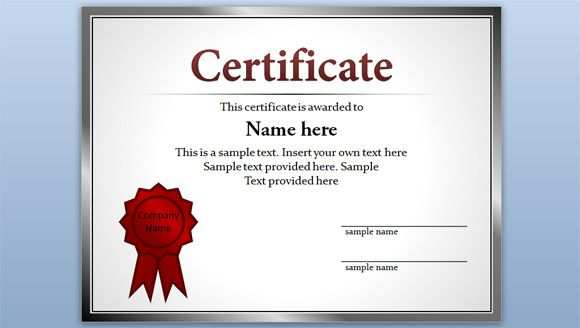 Free Certificate Template For Powerpoint 2010 2013 Certificate Templates Free Certificate Templates Certificate Of Participation Template