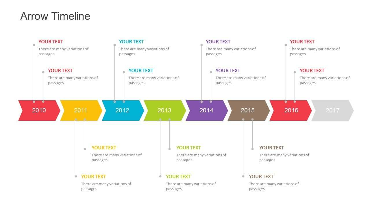 Free Arrow Timeline Powerpoint Template Templates Powerpoint