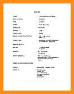 9 10 Biodata For Marriage Pdf Lasweetvida Com In 2020 With