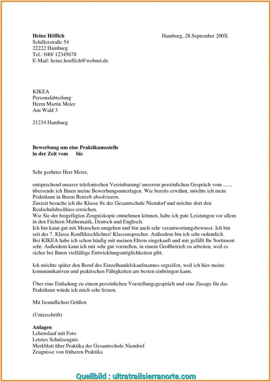 Lebenslauf Muster Praktikum 9 Klasse In 2020 Resume Examples