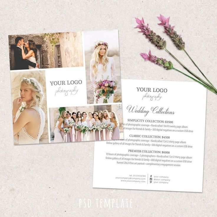 Hochzeit Fotografie Preisliste Vorlage Preisubersicht Fur